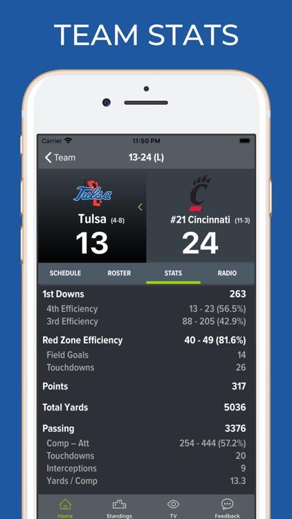 Tulsa Football Schedules screenshot-4