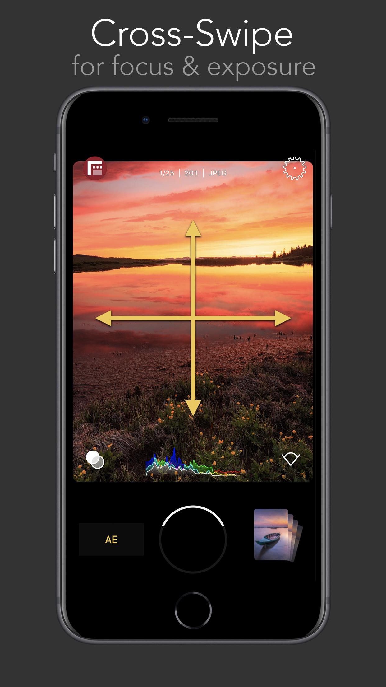 Screenshot do app FiLMiC Firstlight: App de foto