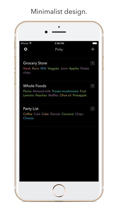 Screenshot #2 pour Picky - Grocery Shopping List