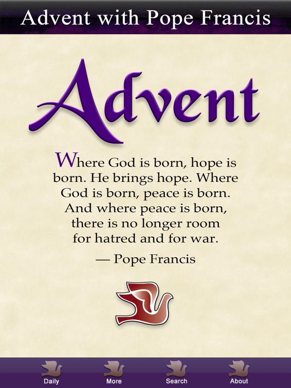 Ipad Screen Shot Advent with Pope Francis 1