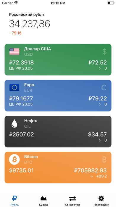 Рубль – Курсы валют онлайнСкриншоты 1