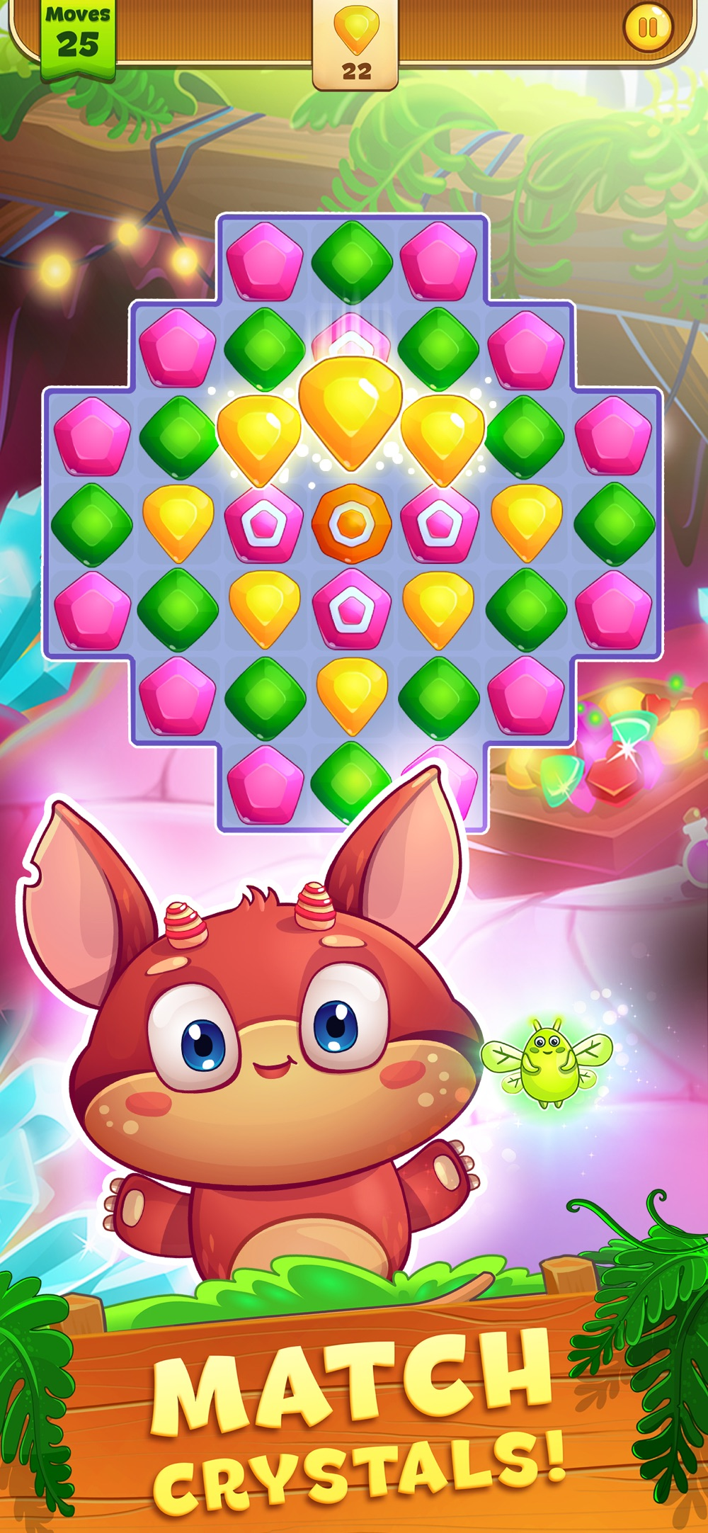 Crystal Crunch! Match 3 Puzzle