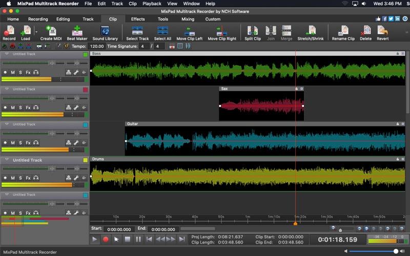 MixPad Multitrack Recorder Free Screenshot