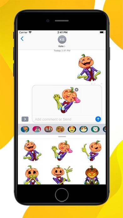Pumpkin Halloween Stickers screenshot 2