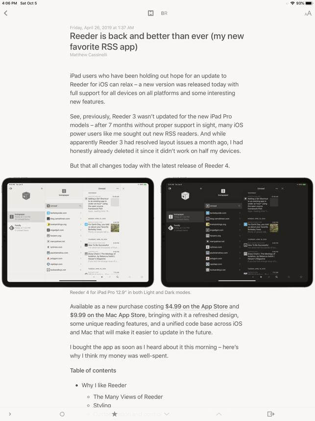 ‎Reeder 3 Screenshot