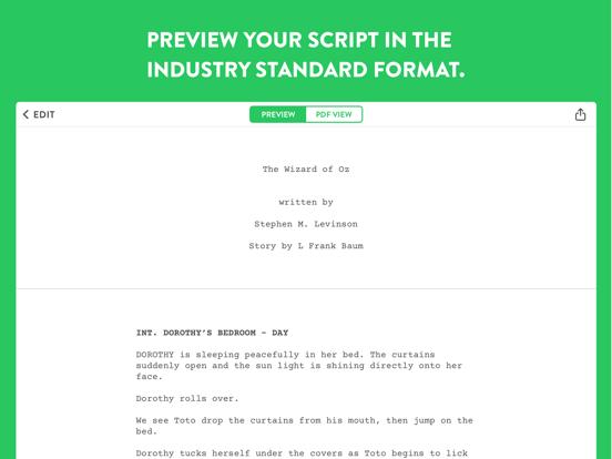 Untitled - Screenwriting Notes screenshot