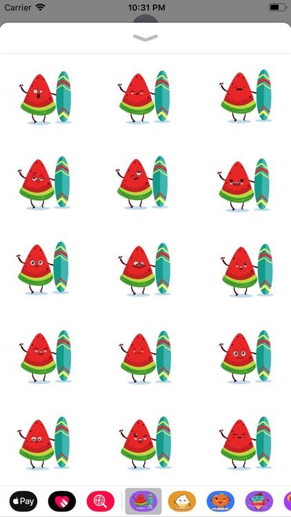 watermelon emoji sticker 2020
