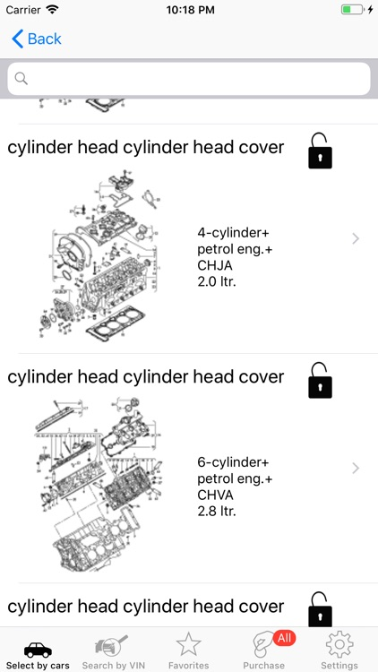 Parts and diagrams for Audi screenshot-4