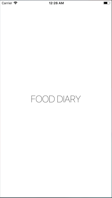 Food Diary - Photo & Story screenshot 1