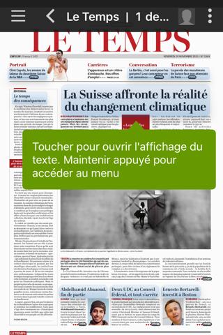 Le Temps ePaper - náhled