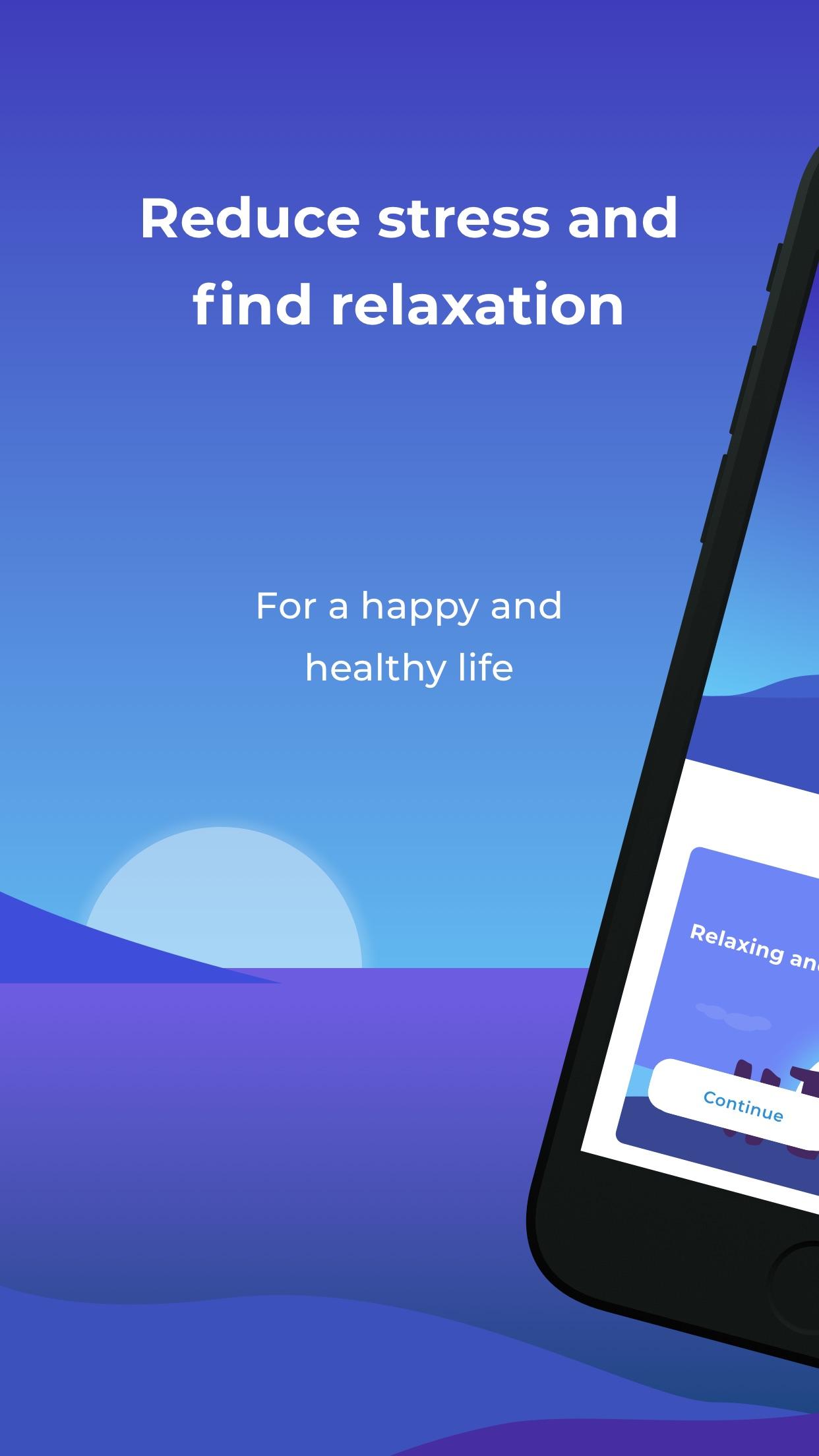 Stress Guide: HRV & Meditation Screenshot