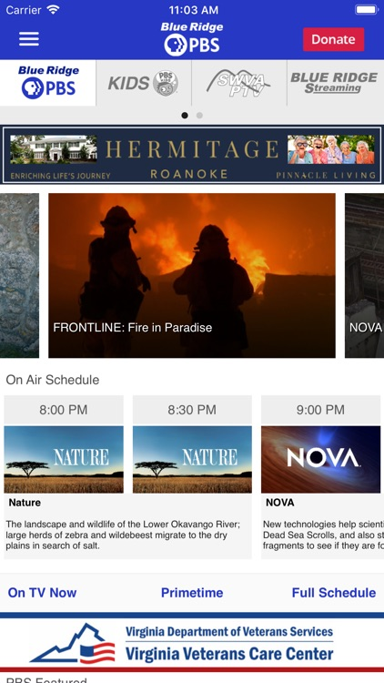 Blue Ridge PBS App screenshot-1
