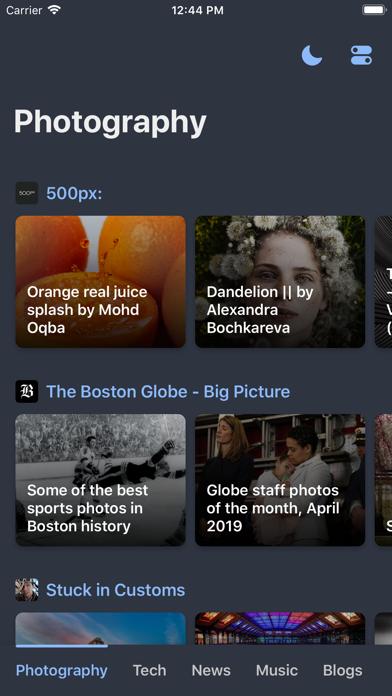 Digest - News & RSS reader Screenshot on iOS
