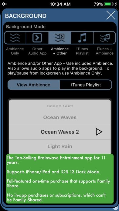 Screenshot #2 pour BrainWave 35 Binaural Programs