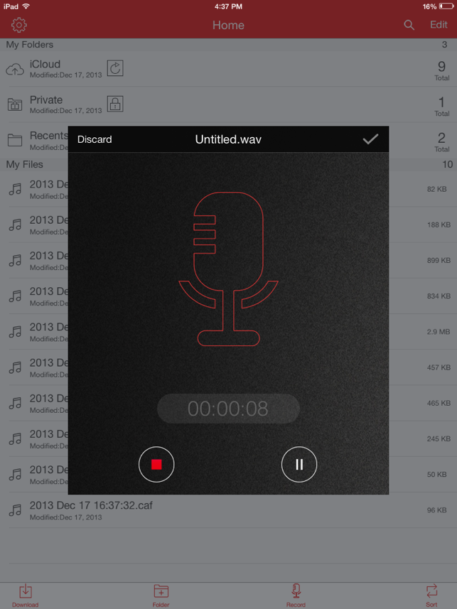 ‎Recorder Pro: Audio Manager Screenshot