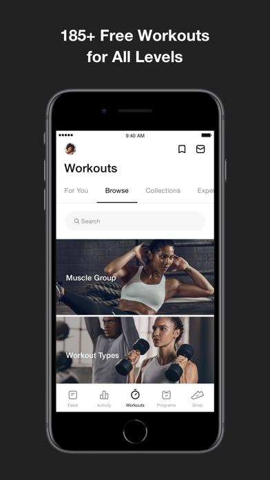 Nike Training Club app image