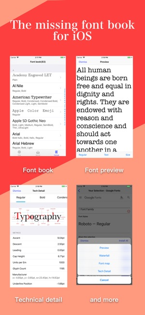 Fonty - install any font on the App Store