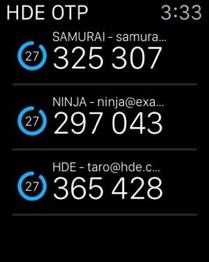 HENNGE OTP Generator Screenshot