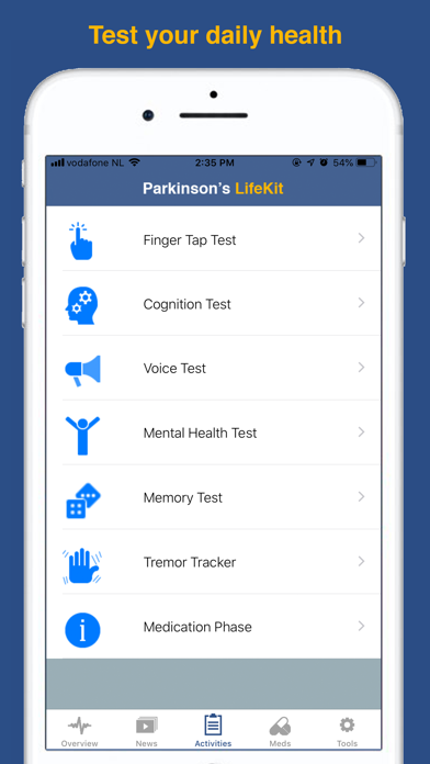 Parkinson's LifeKit Screenshots