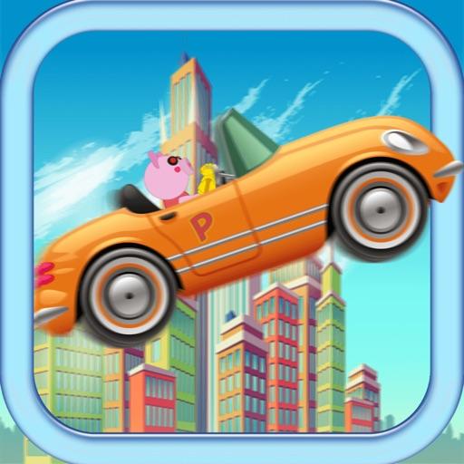 Piggy race With Animals Trucks