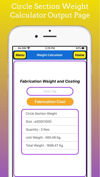 Fabrication Weight Calculator screenshot 8