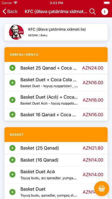 Screenshot for Metbexler, Online Yemek in Azerbaijan App Store
