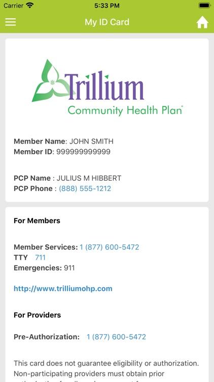 Trillium Community Health Plan screenshot-3