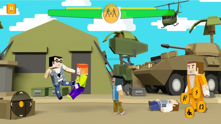 Blocky City Road Street Battle screenshot-3