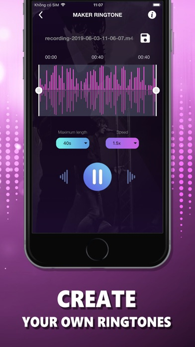 Ringtones Music: The Ring App Screenshot