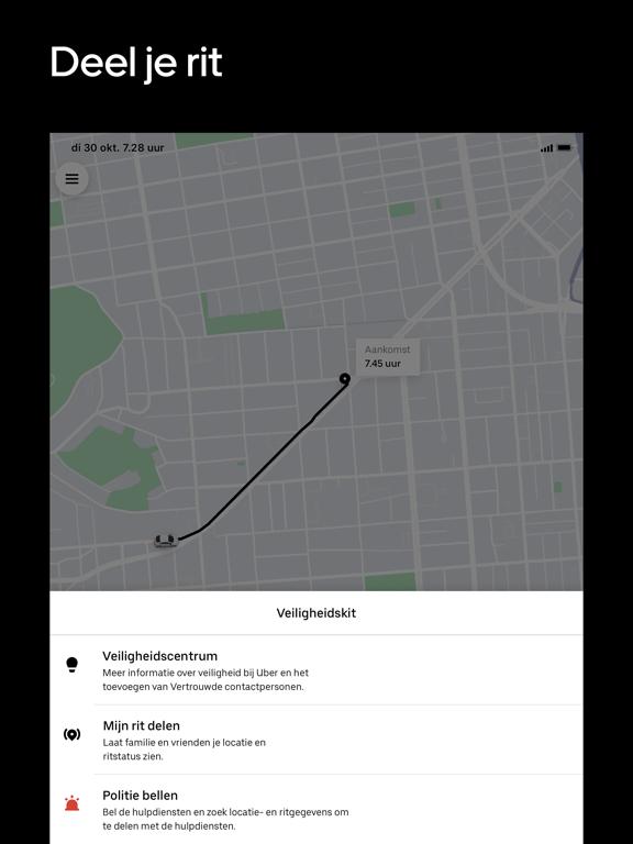Uber iPad app afbeelding 5