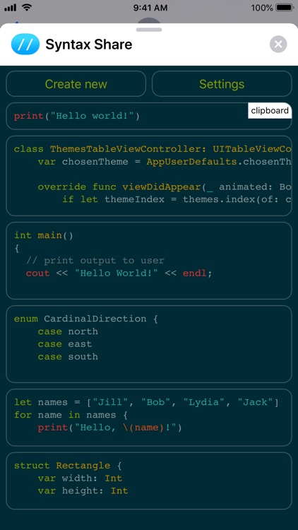 Syntax Share