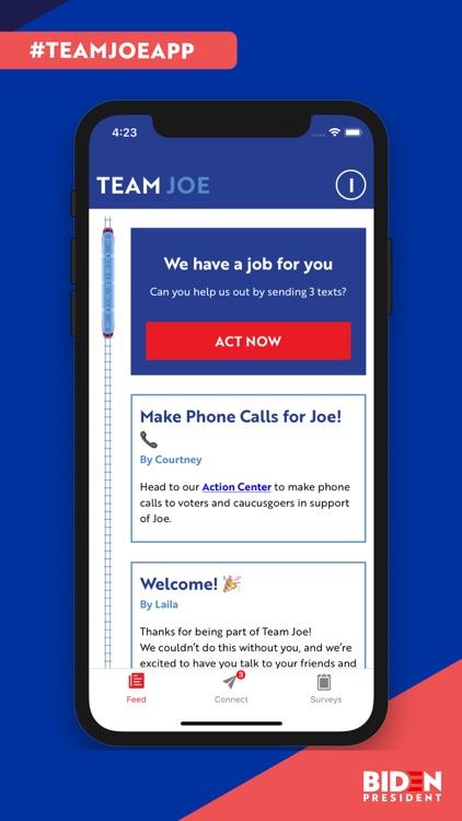 Team Joe Campaign App