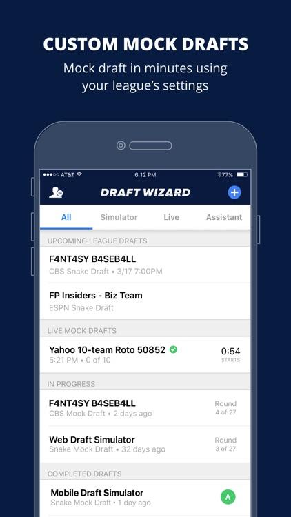 Fantasy Baseball Draft Wizard