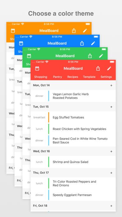 Screenshot for MealBoard in Australia App Store