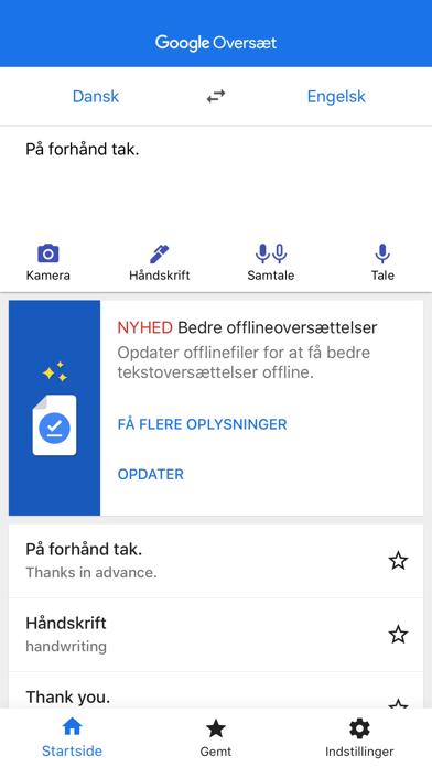 Screenshot for Google Oversæt in Denmark App Store
