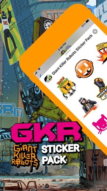 Giant Killer Robots Stickers