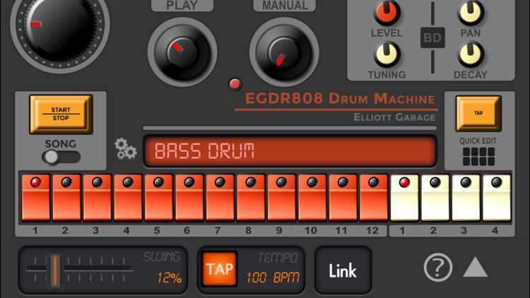 EGDR808 Drum Machine HD screenshot-3