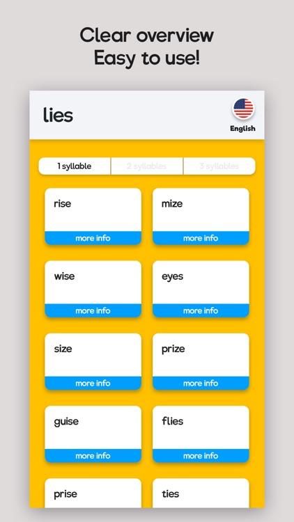 Rhyme Time - Rhyme Aid! screenshot-3