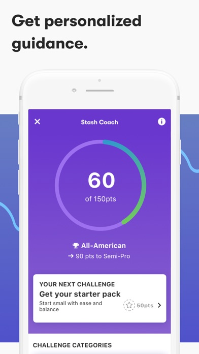 Screenshot for Stash: Invest. Learn. Save. in United States App Store