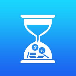 Ícone do app TimeTrack Pro - hours tracker