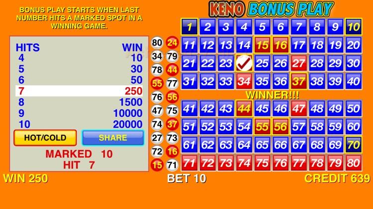 Keno Bonus Play screenshot-3