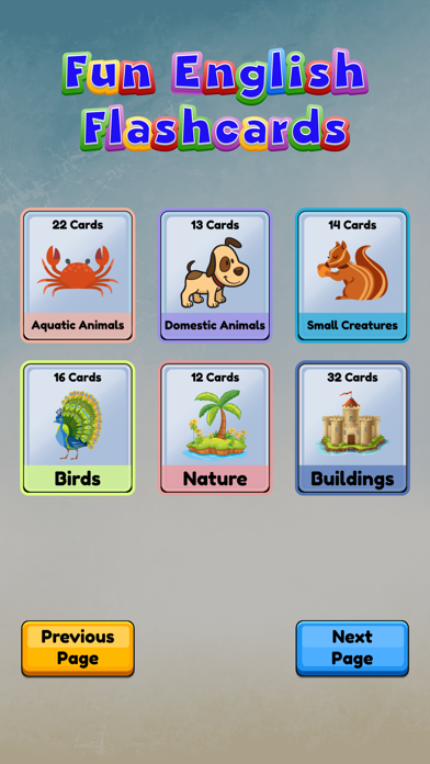 Fun English Flashcards Pro Screenshot
