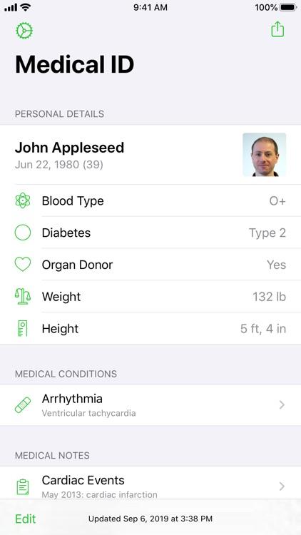 Medical ID Record
