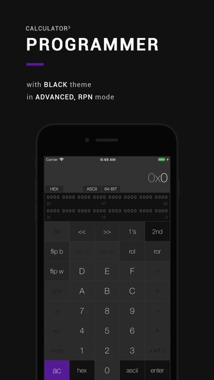 Calculator³: 3-in-1 calculator