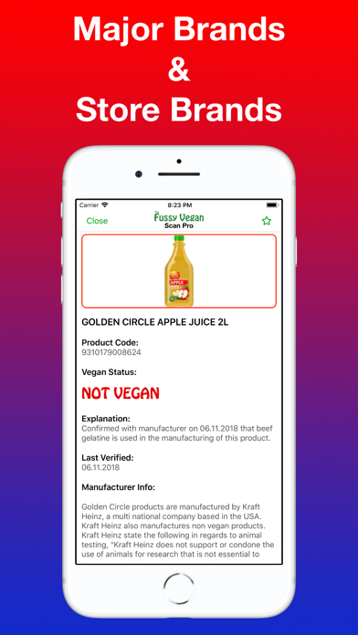 Fussy Vegan Scan Pro app image