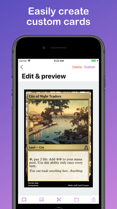 Card Creator for MtG by Ajfek Software (iOS, United States