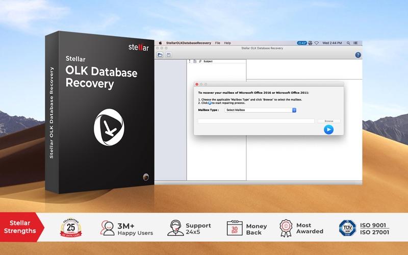 Stellar OLK Database Recovery скриншот программы 1