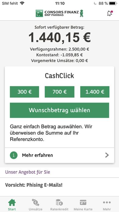 Consors Finanz Mobile BankingScreenshot von 1