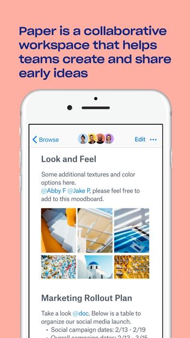 Paper by Dropbox Screenshot on iOS