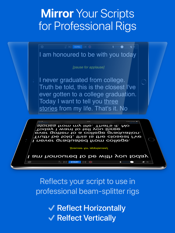 Teleprompter Premium - Speech, Script and Lyrics Mirror Prompter Pro screenshot